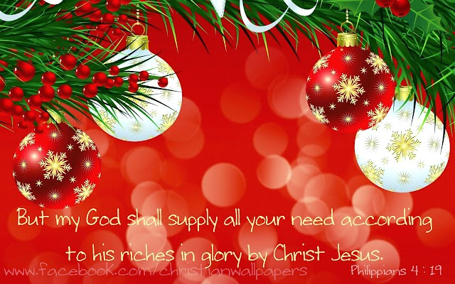 Christmas Blessing Bible Verse Card & Wallpaper