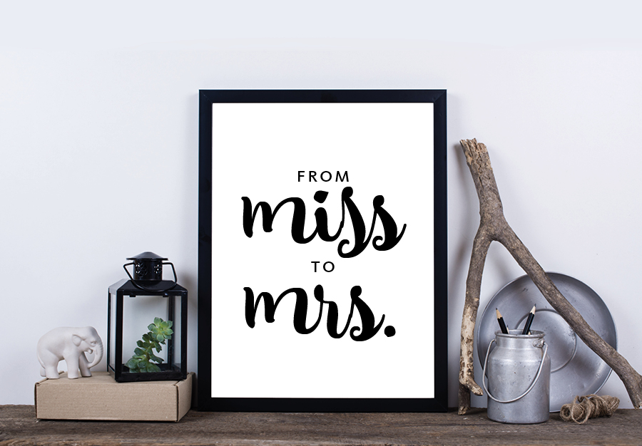 From Miss to Mrs Free Printable