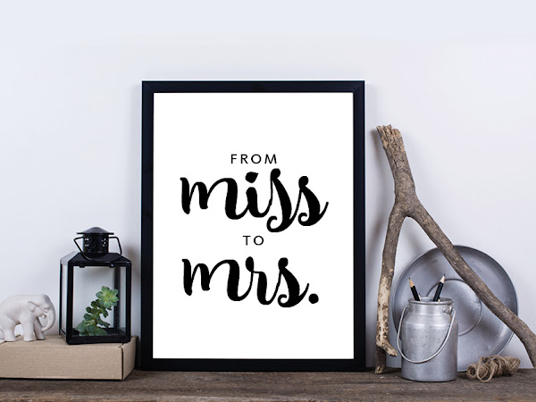 Miss to Mrs Bridal Shower Printable