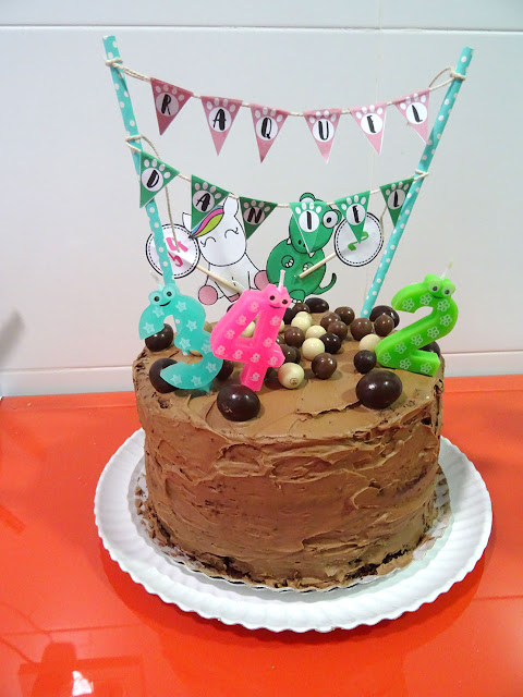 tarta dos cumpleaños layer cake