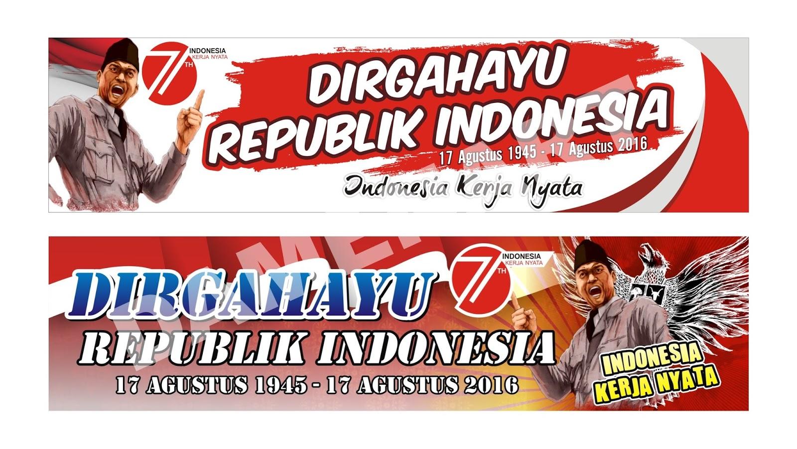 MI HAYATUL ISLAM Desain Spanduk HUT Kemerdekaan Republik Indonesia
