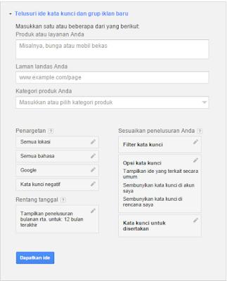 Cara Riset Keyword Yang Benar Di Google Keywords Planner