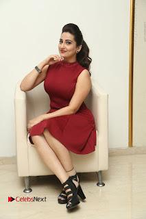 Telugu Tollywood Anchor Manjusha Pos in Red Short Dress  0091.JPG