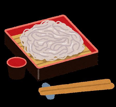 もり蕎麦のイラスト