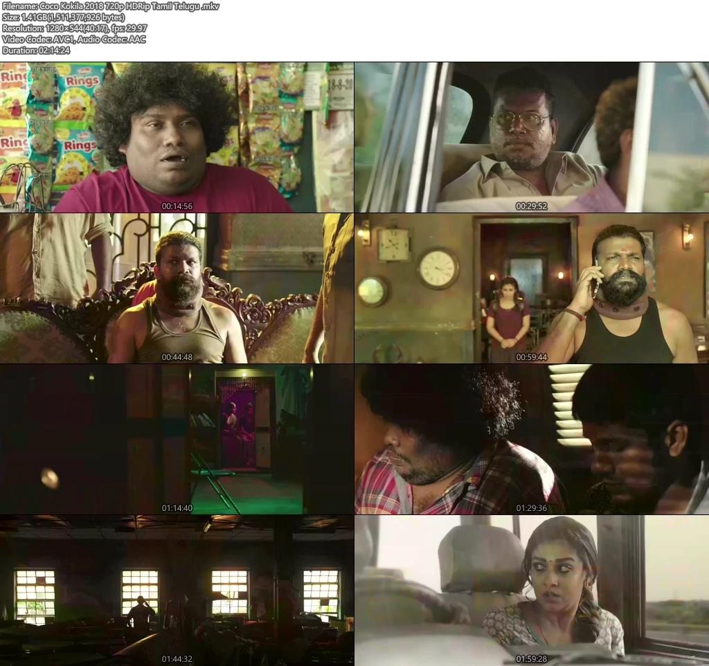 Kolamavu Kokila 2018 720p Hdrip Tamil Telugu 480p 300mb 100mb