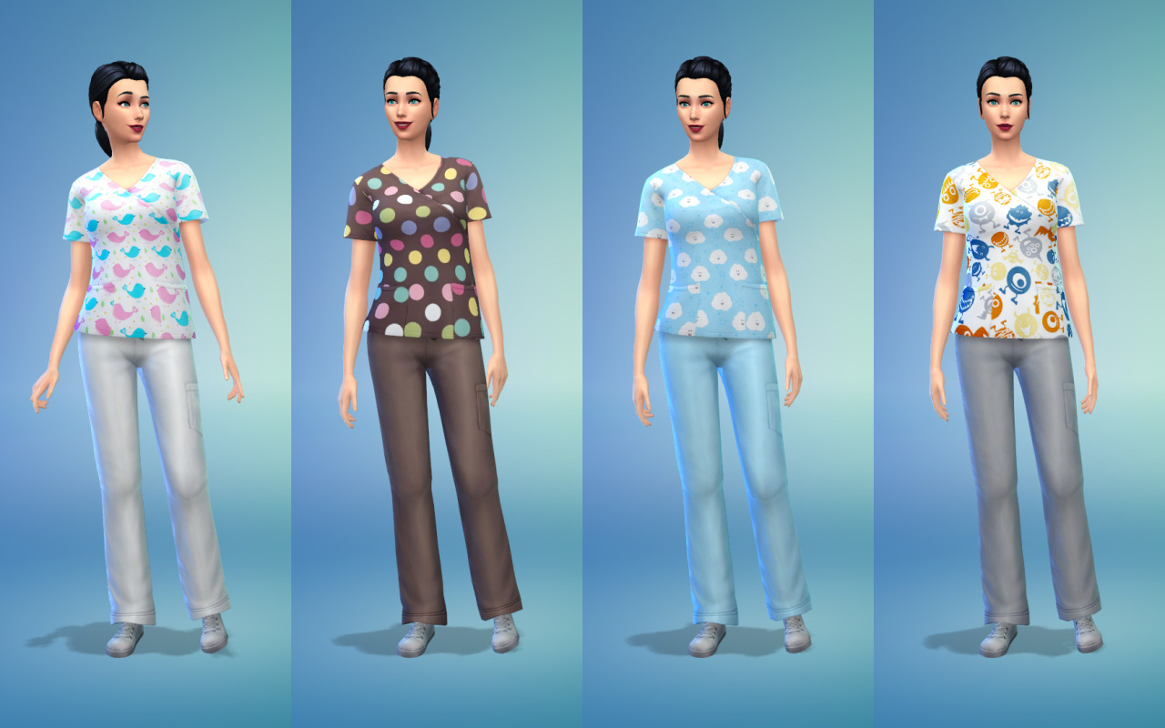 My Sims 4 Blog Scrubs Recolors For Males Amp Females