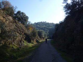 Trinchera. Vía Verde de la Jara