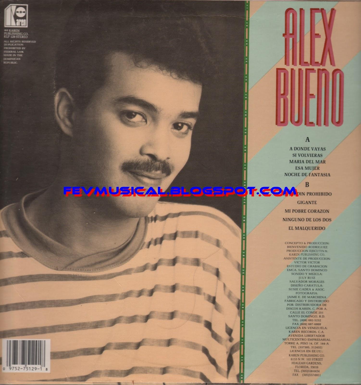 Fev musical 1990 alex bueno karen for Alex el bueno jardin prohibido
