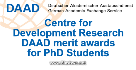 Centre for Development Research DAAD merit awards for PhD
