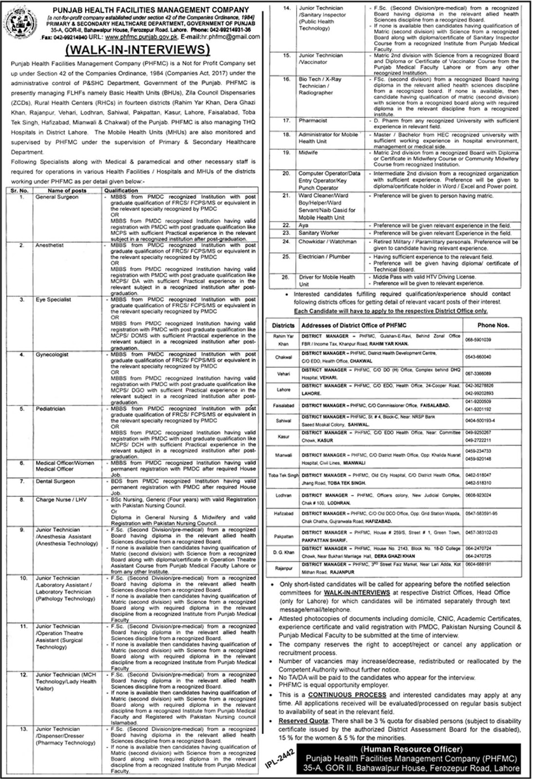 Primary And Secondary Healthcare Department Jobs March 2019  Vacancies 78