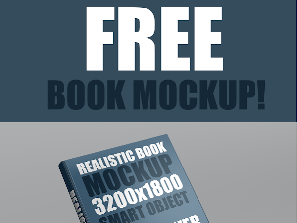 Download Realistic Book Cover Mockup Template Free