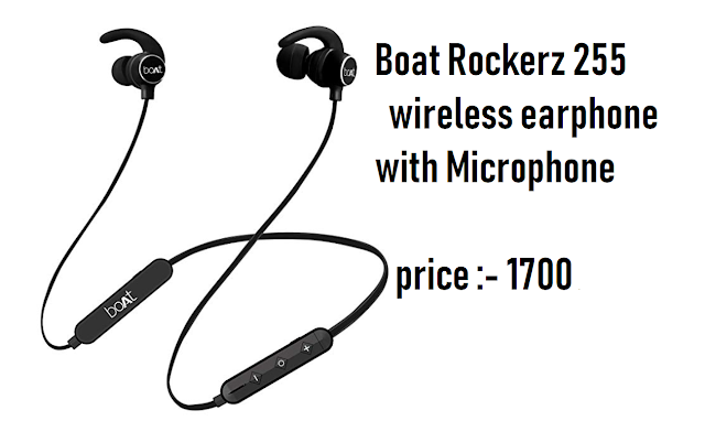 Boat Rockerz 255 is the best earphone under 3000 on Amazon .