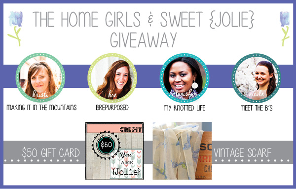 The Home Girls & Sweet {Jolie} Giveaway