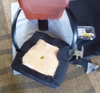 odnawianie fotela do biurka