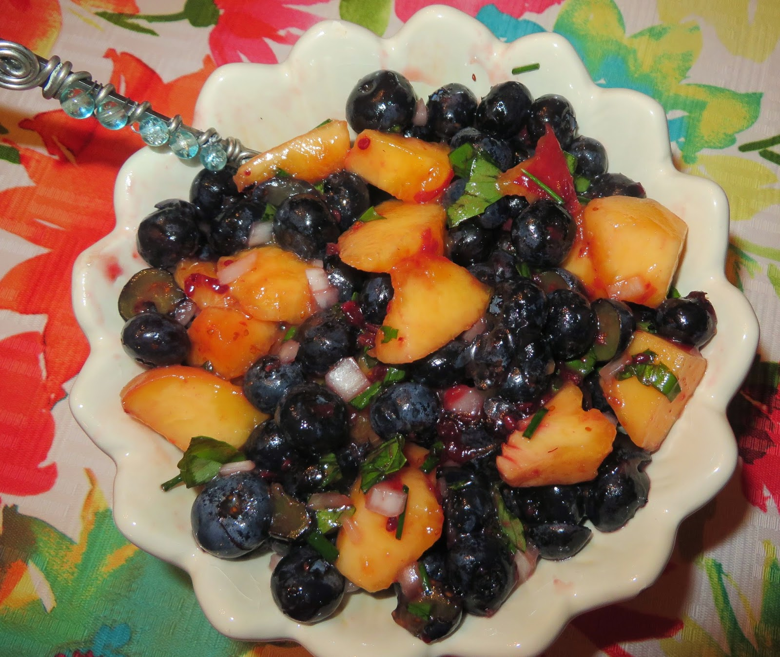 Ww Fresh Blueberry Peach Salsa