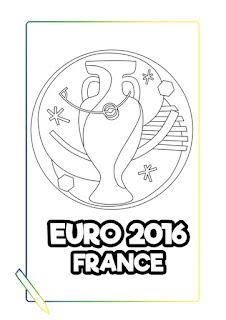 Eurocopa 2016 francia para colorear