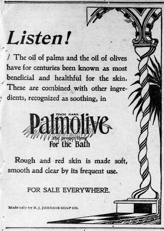 Palmolive Soap, ad August 29, 1899