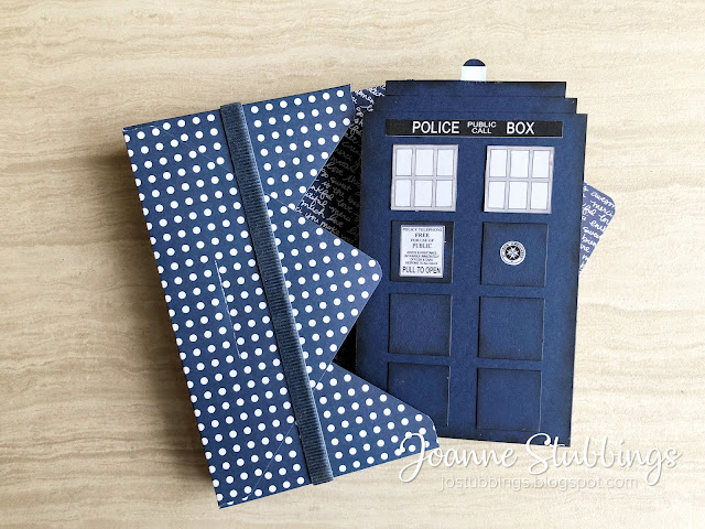 Jo's Stamping Spot - Just Add Ink Challenge #480 Doctor Who TARDIS Extended Concertina Card using Stampin' Up! products