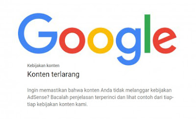 Hindari Konten Terlarang Agar Diterima Google Adsense