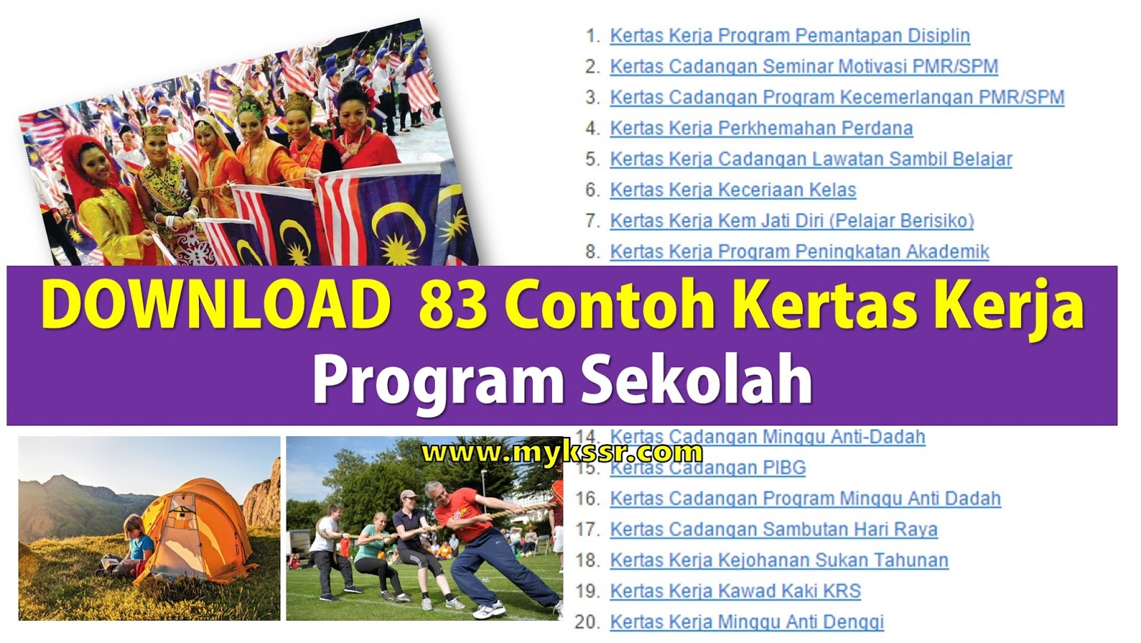 83 Contoh Kertas Kerja Program Sekolah Mykssr Com
