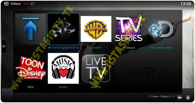 Add-On - AK 47 - KODI - TV Online, Filmes e Mais