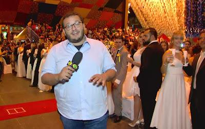 Em Campina Grande, Juliano Dip acompanha casamento coletivo em festa de São João - Divulgação/Band