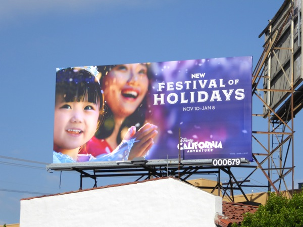 Disney California Adventure Festival Holidays 2016 billboard