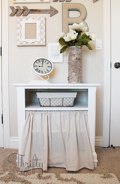 Turn an old dresser into a cute shabby chic storage cabinet!