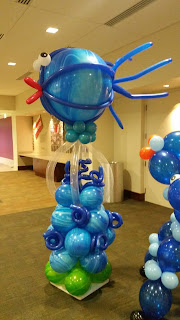 Big fish balloon column