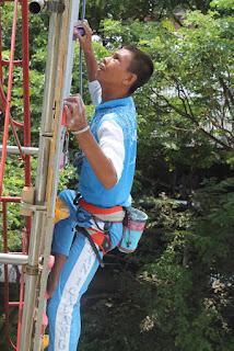 Lima Atlit FPTI Calang ini  Berhasil Capai Ketinggian 12 Meter