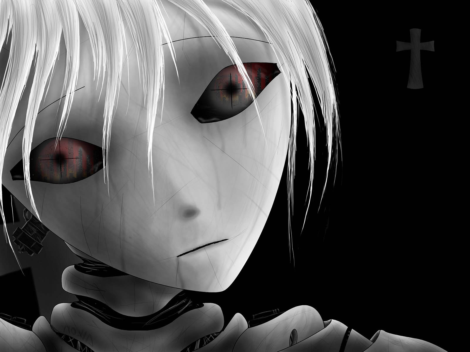 Wallpapers anime girl wallpapers - Black and white anime wallpaper ...