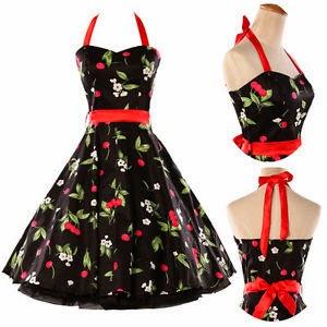 vestido de fiesta estilo rockabilly
