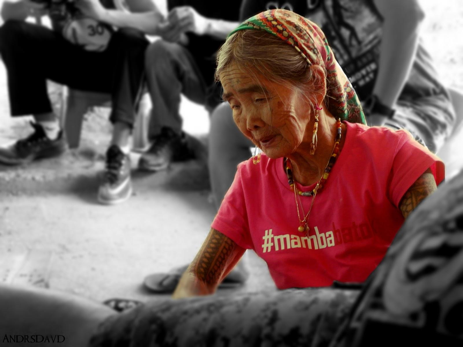 "Lady legend folks! The last ""Mambabatok"" Apo Whang-Od"