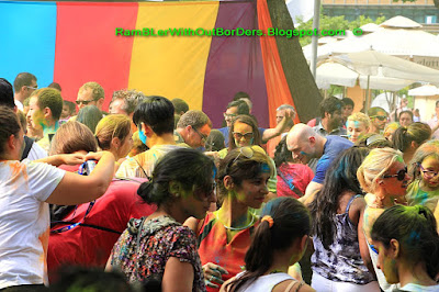 Dance Party, Holi Festival, Esplanade, Singapore