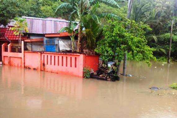 Permukiman Warga Balangsembo ,Selayar, Terendam Banjir