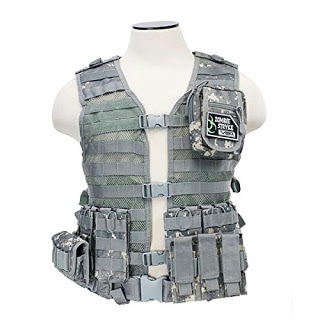 Image: NC Star Zombie Infected Kit | MOLLE vest to allow custom setup of gear and pouches | Tough PVC mesh webbing for maximum ventilation and durability