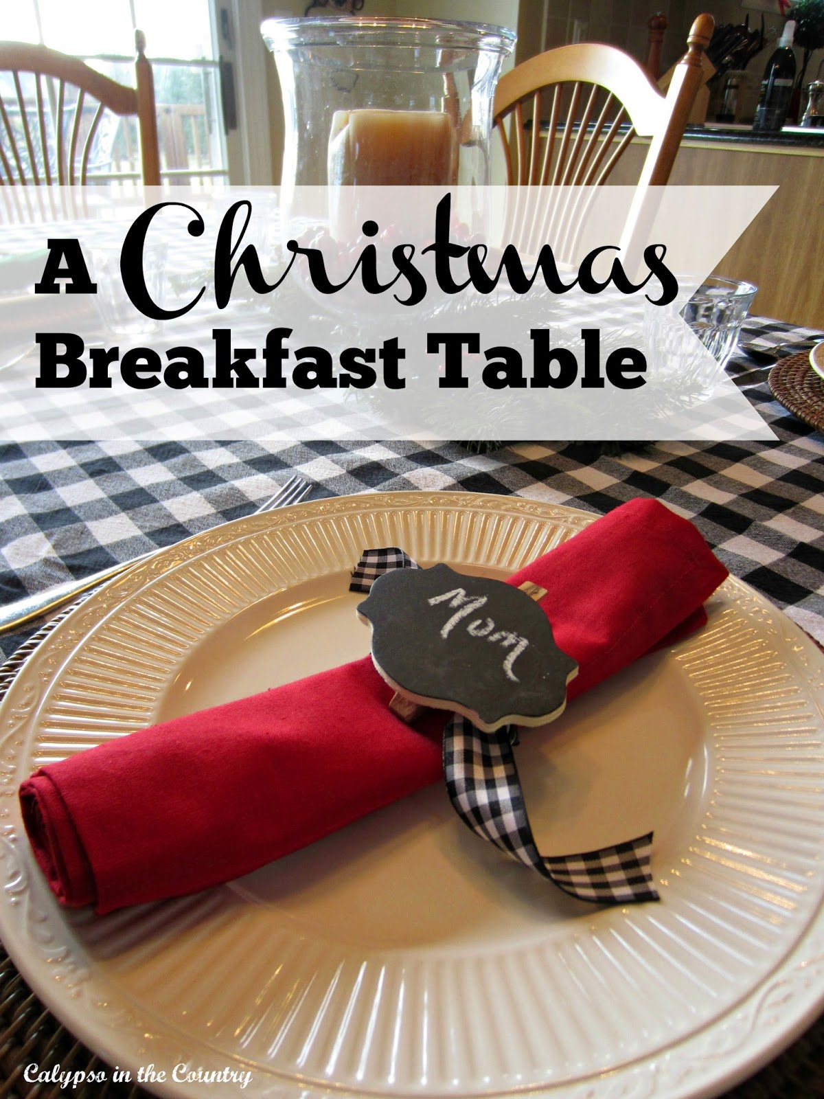 Festive and Colorful Christmas Breakfast Table