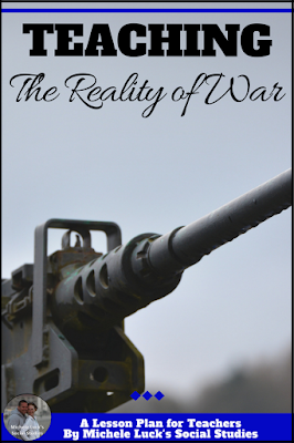 #Teaching high school students about the reality of war is important, especially for those considering service after high school. These ideas are a great way to bring that reality into your classroom. #socialstudies #history #highschool