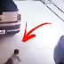 LOOK :  Unattended Baby Crawls in Garage, Gets Nearly Crushed by Car!