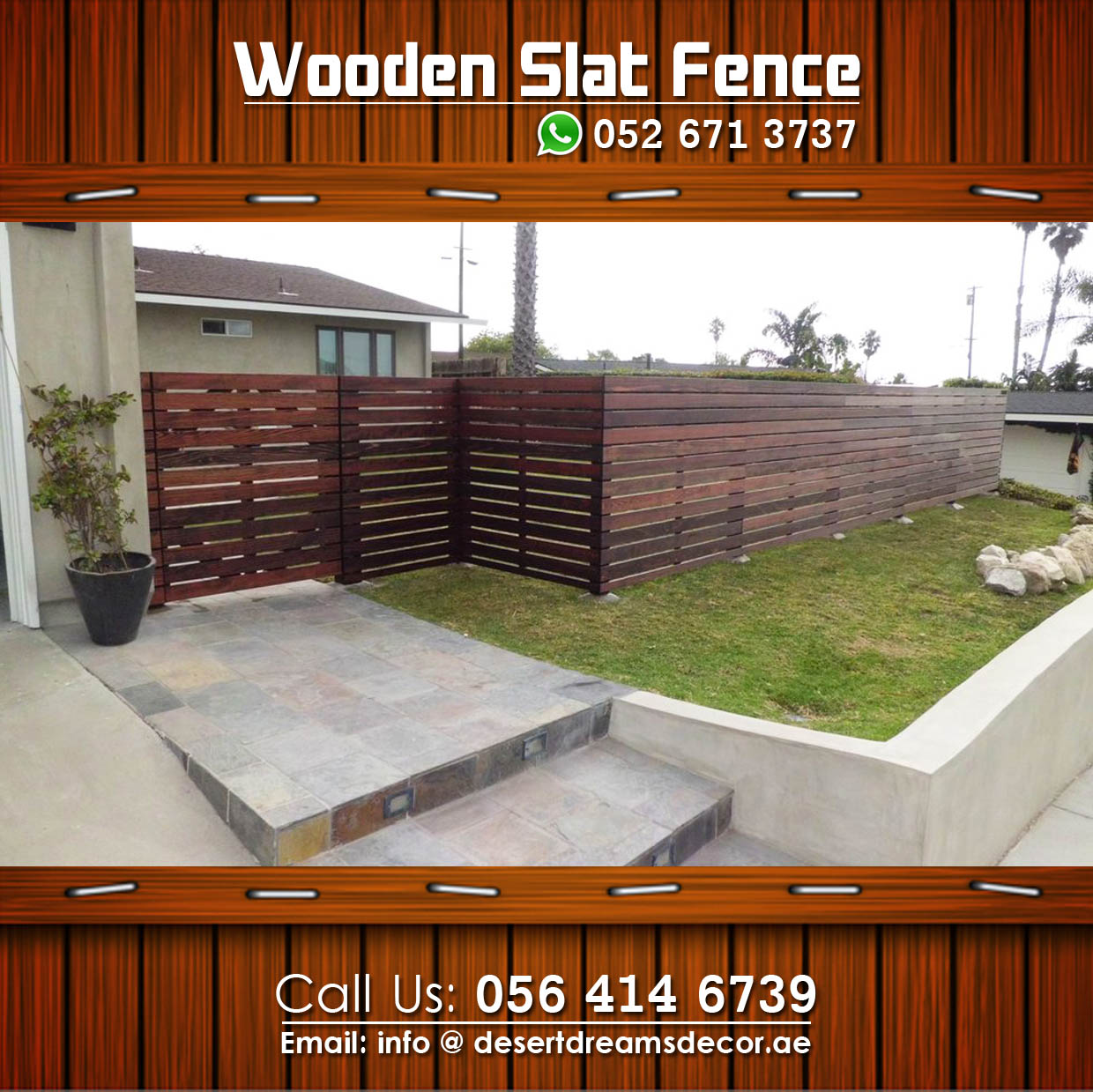 Wooden Fence In UAE. (MOST AFFORDABLE PRICE).: Wooden