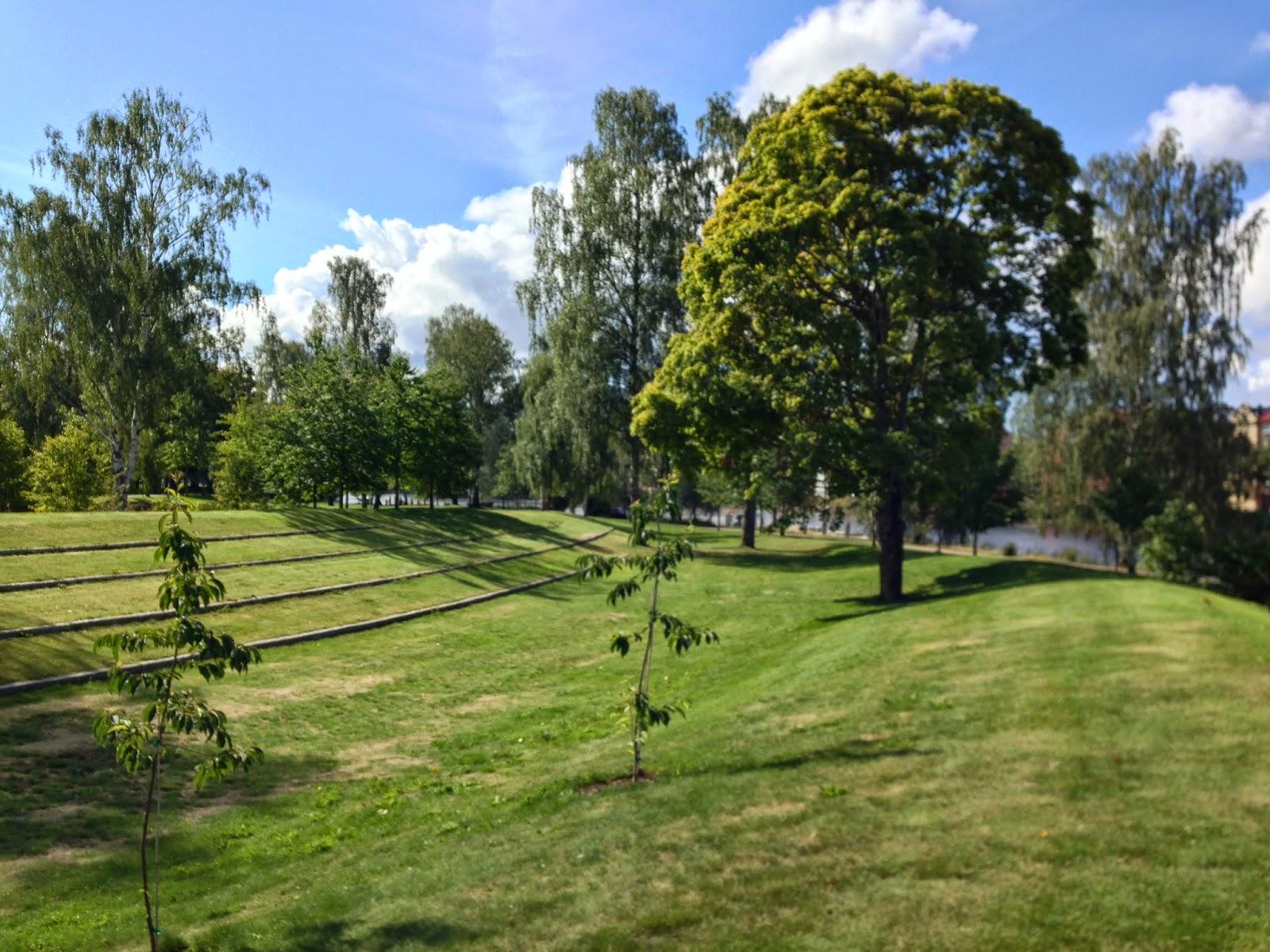 Landscaped park in Karlstad