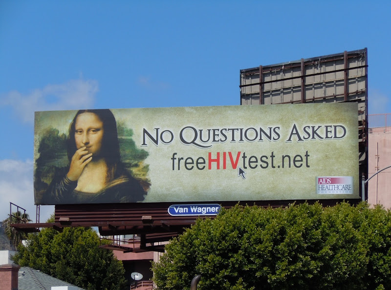 Mona Lisa AIDS Healthcare billboard