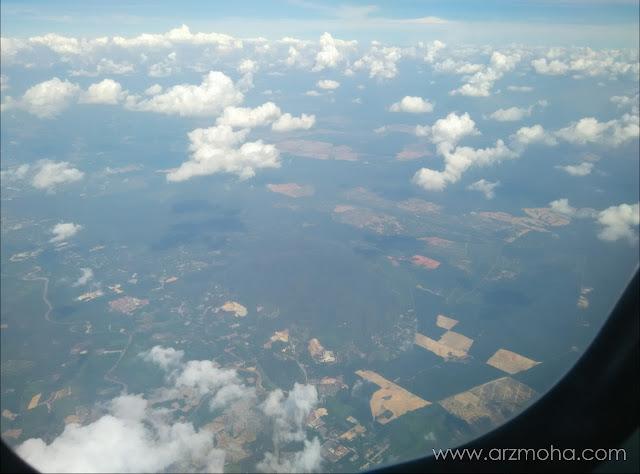 permandangan dari udara, permandangan dari pesawat dan kapal terbang, from ATR 72-500,