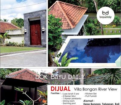 Villa dijual di Bali Villa Bongan Tabanan Bali
