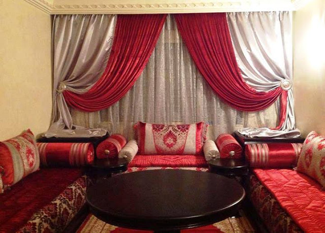 double toned curtains for living room with red seater sofa sets and neck rolled style side resting roll