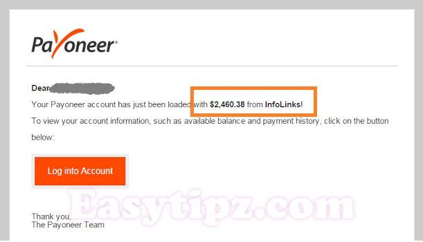And here are another payment from Infolinks