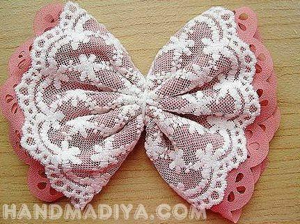 Как сделать своими руками красивый бант?  How to make a beautiful bow?