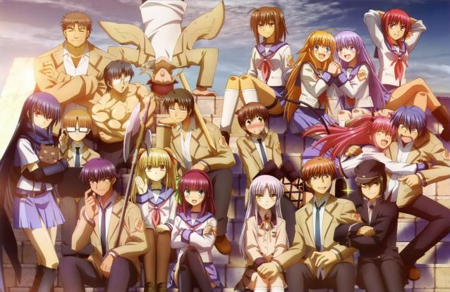 Angel Beats - Top Isekai Anime (Main Character Trapped in Another World)