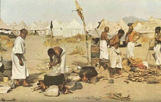 Very Old Rare Images of Hajj, Preparing Food on the occasion of Hajj