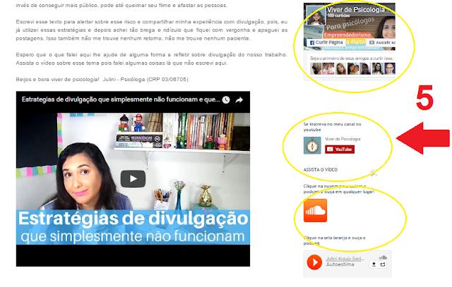 Redes Sociais no Blog